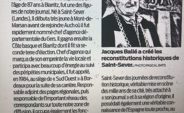 disparition de Jacques BALIE