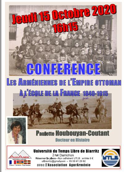 Conférence Jeudi 15 octobre